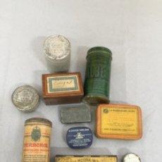 Cajas y cajitas metálicas: BONITO LOTE DE CAJITAS , LATAS DE MEDICAMENTOS ANTIGUOS , ETC. Lote 253318720