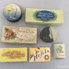 Cajas y cajitas metálicas: BONITO Y ANTIGUO LOTE DE CAJAS , SOBRES DE JABON , ETC. Lote 253319150