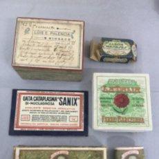 Cajas y cajitas metálicas: BONITO LOTE DE CAJITAS , MEDICAMENTOS, JABON , FARMACIA MEDINA RIOSECO , ETC. Lote 253325265