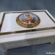 Cajas y cajitas metálicas: JOYERO BLANCO ( MÚSICA - BAILARINA ) COMUNIÓN. Lote 253917475