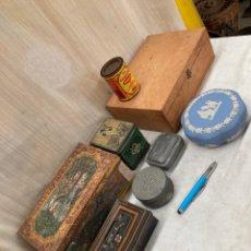 Caixas e caixinhas metálicas: GRAN LOTE CAJAS ANTIGUAS,UNA JUEGO AJEDREZ. Lote 254369110