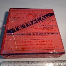 Cajas y cajitas metálicas: CAJA DE FARMACIA TETRACAL LABORATORIOS EROS MADRID // SIN DESPRECINTAR. Lote 254804130