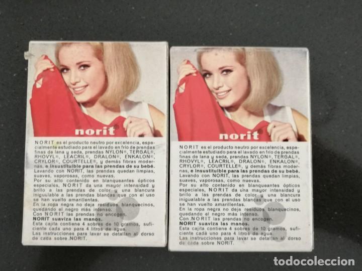 Cajas y cajitas metálicas: Antiguo embase de cartón detergente NORIT, Sin abrir. Años 60. 7x10x2,5cm - Foto 2 - 255388200