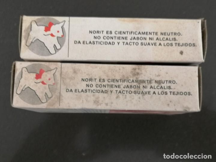 Cajas y cajitas metálicas: Antiguo embase de cartón detergente NORIT, Sin abrir. Años 60. 7x10x2,5cm - Foto 4 - 255388200