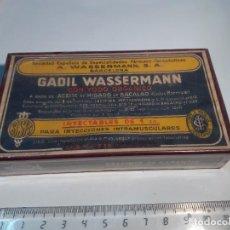 Caixas e caixinhas metálicas: CAJA DE FARMACIA GADIL WASSERMAN URIACH// SIN DESPRECINTAR. Lote 255481480