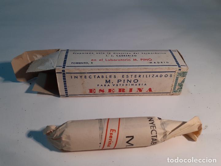 CAJA DE FARMACIA ESERINA PARA VETERINARIA M. PINO // SIN DESPRECINTAR (Coleccionismo - Cajas y Cajitas Metálicas)