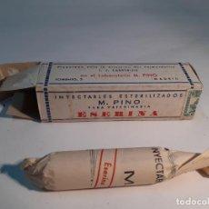 Cajas y cajitas metálicas: CAJA DE FARMACIA ESERINA PARA VETERINARIA M. PINO // SIN DESPRECINTAR. Lote 255651340