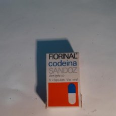 Caixas e caixinhas metálicas: CAJA DE FARMACIA FIORINAL CODEINA LABORATORIOS SANDOZ // SIN DESPRECINTAR. Lote 255656250