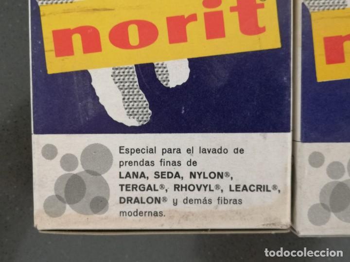 Cajas y cajitas metálicas: Antiguo envase de cartón detergente NORIT, Sin abrir. Años 60. 7x10x2,5cm - Foto 3 - 256151990