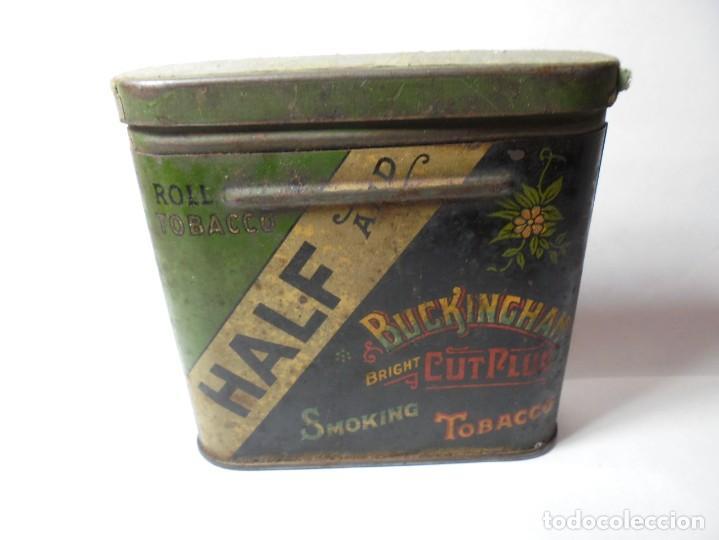 MAGNIFICA CAJA METALICA TOBACCO HALF AND BUCKINGHAM BRIGHT CUT PLUG SMOKING,FOR PIPE AND CIGARETTE (Coleccionismo - Cajas y Cajitas Metálicas)