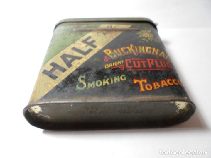 Cajas y cajitas metálicas: magnifica caja metalica tobacco half and buckingham bright cut plug smoking,for pipe and cigarette - Foto 2 - 257396085