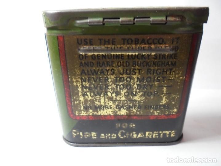 Cajas y cajitas metálicas: magnifica caja metalica tobacco half and buckingham bright cut plug smoking,for pipe and cigarette - Foto 3 - 257396085
