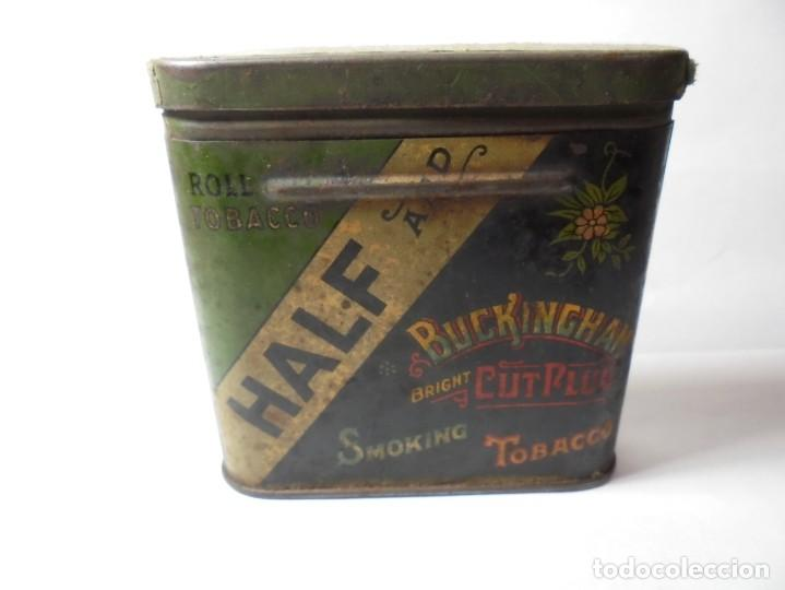 Cajas y cajitas metálicas: magnifica caja metalica tobacco half and buckingham bright cut plug smoking,for pipe and cigarette - Foto 5 - 257396085