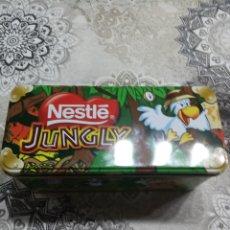 Cajas y cajitas metálicas: LATA CHOCOLATE JUNGLY. Lote 257897585