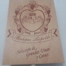 Cajas y cajitas metálicas: CAJA DE VINOS DE MADERA CON CIERRE METALICO. Lote 261664325
