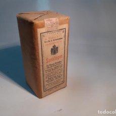 Cajas y cajitas metálicas: CAJA DE FARMACIA SANATOGEN TÓNICO NUTRITIBO LAB. BAUER // AÑOS 20. Lote 262005115