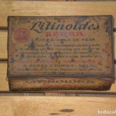 Cajas y cajitas metálicas: CAJITA METALICA VACIA , LITINOIDES SERRA . * CON SIGNOS DE OXIDO VER FOTOS *. Lote 262007425