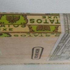 Cajas y cajitas metálicas: CAJA DE PUROS LOS STATOS DE LUXE HABANA , PRECINTADA. Lote 262363445