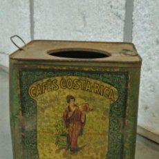 Cajas y cajitas metálicas: BOTE HOJALATA, LATA SEREGRAFIADA. MARCA CAFES COSTA RICA. MODERNISTA.. Lote 262770360