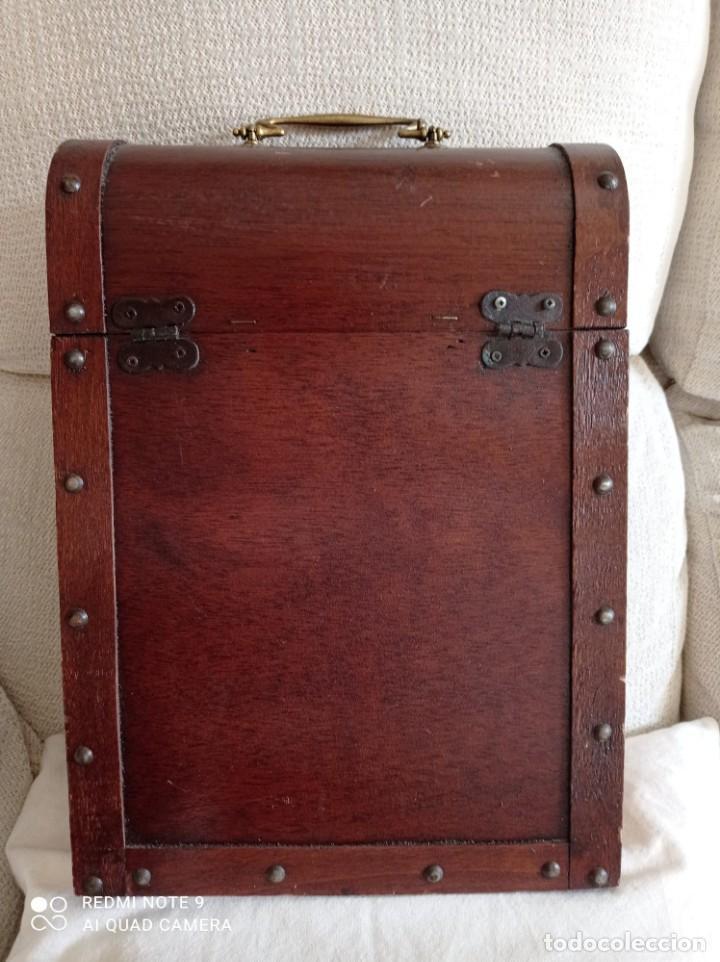 Cajas y cajitas metálicas: Cofre de madera para botellas de vino. - Foto 8 - 263941865