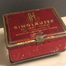 Cajas y cajitas metálicas: CAJA METÁLICA RINGLAUFER GERMANY BASE GRIS. Lote 264245060