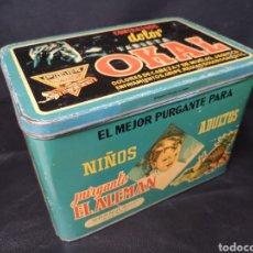 Cajas y cajitas metálicas: ANTIGUA CAJA DE OJALATA OKAL. Lote 267439709