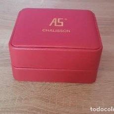 Cajas y cajitas metálicas: CAJA DE RELOJ AS CHALISSON. Lote 267519434