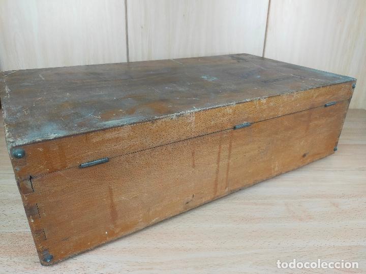 Cajas y cajitas metálicas: CAJA MALETIN EN MADERA FARMACIA LLORCA - Foto 4 - 267593769