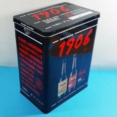 Cajas y cajitas metálicas: LATA CAJA HOJALATA PARA 6 CERVEZAS 1/3 1906 ESTRELLA GALICIA (RESERVA + RED VINTAGE + BLACK COUPAGE). Lote 295593058