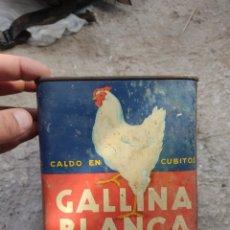 Cajas y cajitas metálicas: BOTE GALLINA BLANCA. Lote 269047203