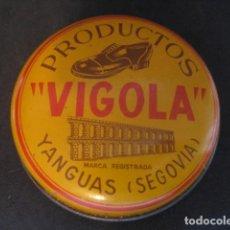 Cajas y cajitas metálicas: LATA BETUN VIGOLA. YANGUAS (SEGOVIA). CREMA PARA CALZADO Y ZAPATOS. Lote 269047998