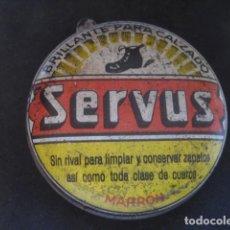 Cajas y cajitas metálicas: LATA BETUN SERVUS (MARRON). CREMA PARA CALZADO Y ZAPATOS. Lote 269050108