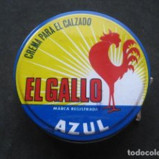 Cajas y cajitas metálicas: LATA BETUN EL GALLO (AZUL). CREMA PARA CALZADO Y ZAPATOS. Lote 269050593