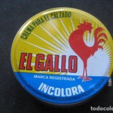 Cajas y cajitas metálicas: LATA BETUN EL GALLO (INCOLORA). CREMA PARA CALZADO Y ZAPATOS. Lote 269050848