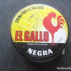 Cajas y cajitas metálicas: LATA BETUN EL GALLO (NEGRA). CREMA PARA CALZADO Y ZAPATOS. Lote 269050938
