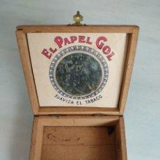 Cajas y cajitas metálicas: CAJA MADERA EL PAPEL GOL. Lote 269594443