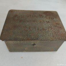 Cajas y cajitas metálicas: ANTIGUA CAJA METALICA EDUARDO NIETO SEVILLA MUY RARA. Lote 269595208