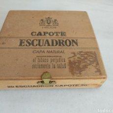 Cajas y cajitas metálicas: CAJA CAPOTE ESCUADRON CAPA NATURAL CITA. Lote 269598663