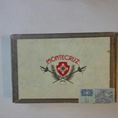 Cajas y cajitas metálicas: ANTIGUA CAJA DE PUROS MONTECRUZ N.4 LAS PALMAS. Lote 271630858