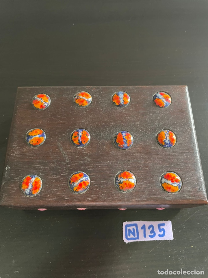 Cajas y cajitas metálicas: Caja antigua de madera - Foto 2 - 271907618