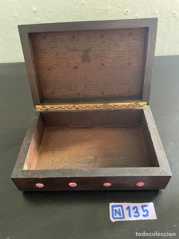Cajas y cajitas metálicas: Caja antigua de madera - Foto 3 - 271907618