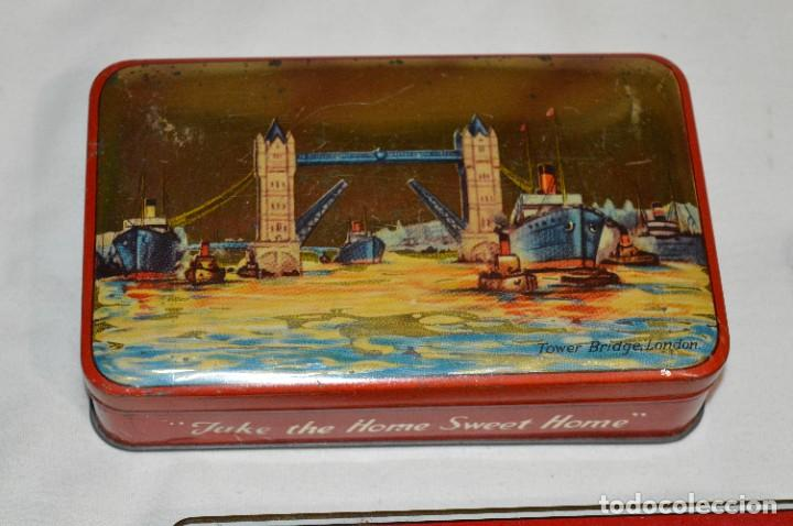 Cajas y cajitas metálicas: Inglesas 3 CAJAS / Cajitas HOJALATA LITOGRAFIADA - Antiguas, vintage/variadas ¡Mira fotos/detalles! - Foto 2 - 273729293