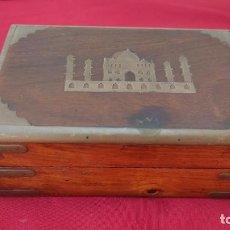 Caixas e caixinhas metálicas: CAJA DE MADERA ARABE Y METAL. Lote 275322198