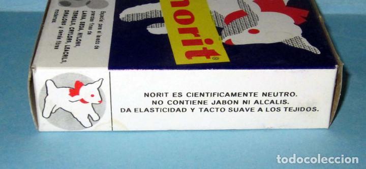 Cajas y cajitas metálicas: NORIT ANTIGUA CAJA DE CARTON DETERGENTE SIN ABRIR AÑOS 60 EN MUY BUEN ESTADO, LOTE 15 - Foto 2 - 276208008