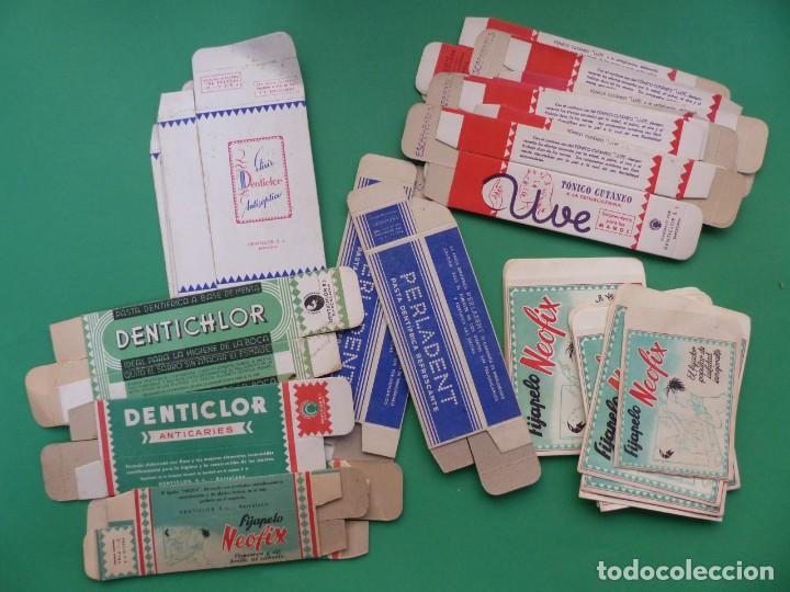 LOTE DE 40 SOBRES Y CAJAS DE CARTON DE FARMACIA - AÑOS 1960-1970, VER FOTOS ADICIONALES (Coleccionismo - Cajas y Cajitas Metálicas)