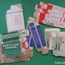 Cajas y cajitas metálicas: LOTE DE 40 SOBRES Y CAJAS DE CARTON DE FARMACIA - AÑOS 1960-1970, VER FOTOS ADICIONALES. Lote 276299348