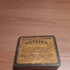Cajas y cajitas metálicas: ANTIGUA CAJA MEDICAMENTO NATEINA. Lote 276410143