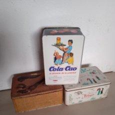 Cajas y cajitas metálicas: 3 LATAS DE COLACAO. Lote 276438463