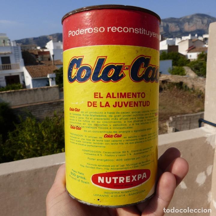 Cajas y cajitas metálicas: Antiguo envase o bote de cola cao 500 gr , munich 1972 - Foto 3 - 276699183