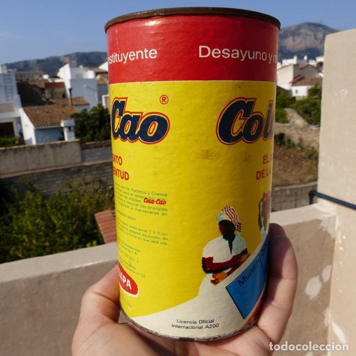 Cajas y cajitas metálicas: Antiguo envase o bote de cola cao 500 gr , munich 1972 - Foto 5 - 276699183